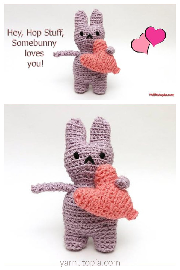 Love Bunny Amigurumi Free Crochet Pattern and Video Tutorial
