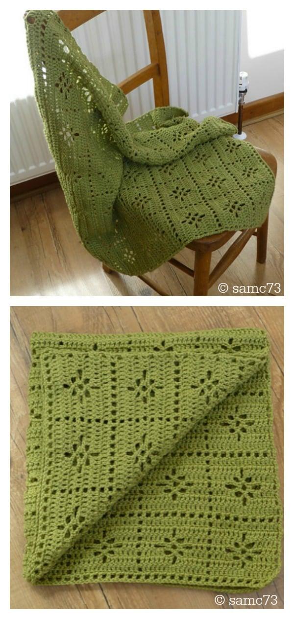 Meadow Flower Baby Blanket Free Crochet Pattern