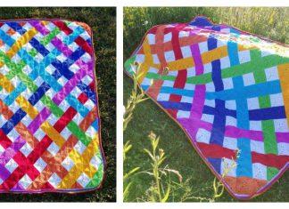 Modern Granny Square Blanket Free Crochet Pattern