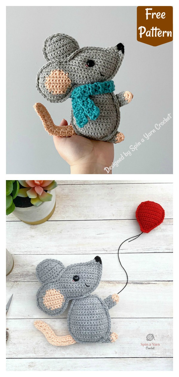 Amigurumi Chinese New Year Rat Crochet Free Pattern - Crochet ... | 1260x600
