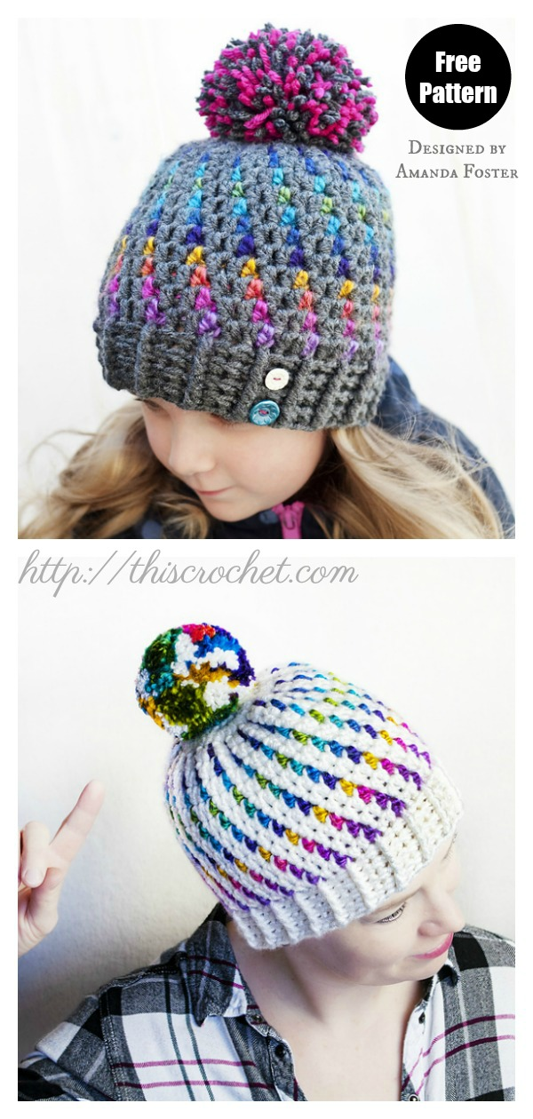 Northern Lights Beanie Hat Free Crochet Pattern