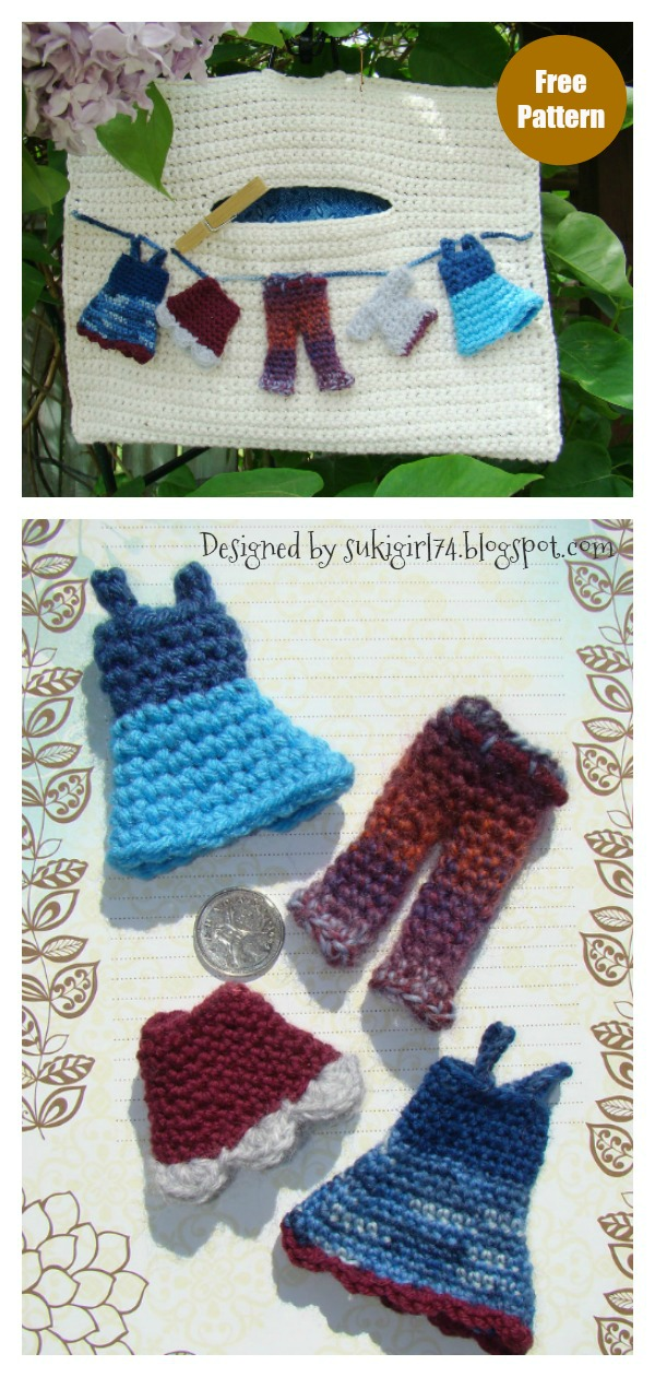 Peg Bag Free Crochet Pattern