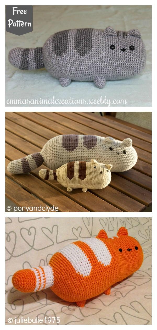 Pusheen the cat Pillow Free Crochet Pattern