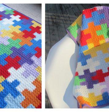 Puzzles Blanket Free Crochet Pattern