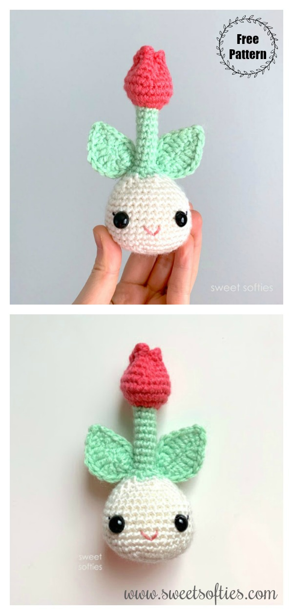 Sweet Spring Tulip Bulb Amigurumi Free Crochet Pattern