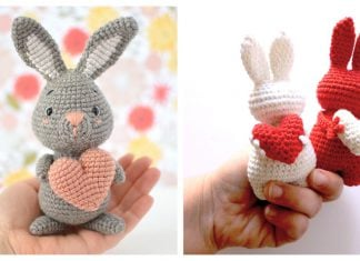 Valentine's Day Heart Bunny Free Crochet Pattern