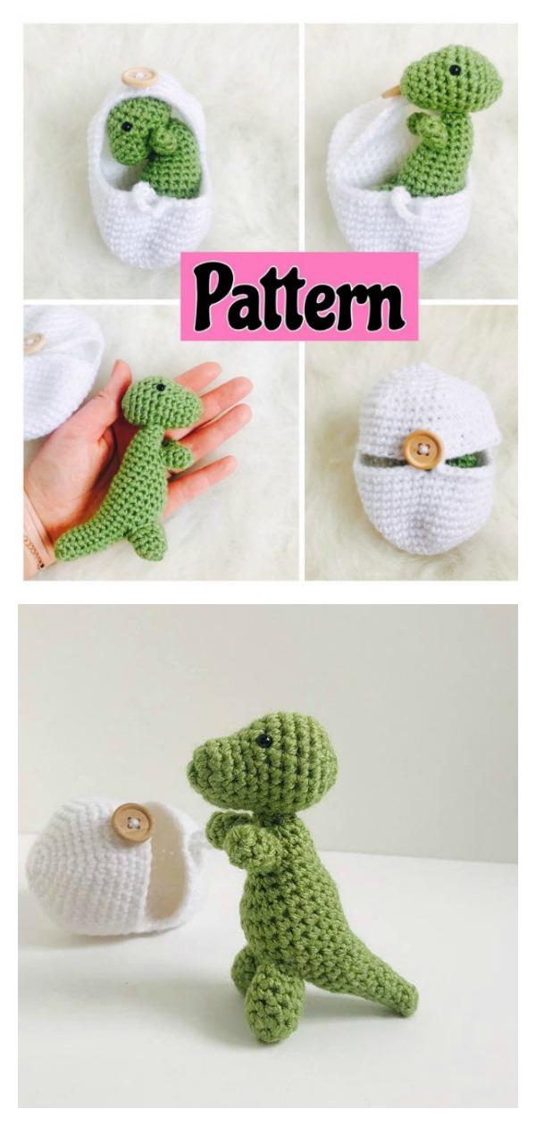 Amigurumi T-rex Dino Free Crochet Pattern - amigurumi.myeatbook.com | 1260x600
