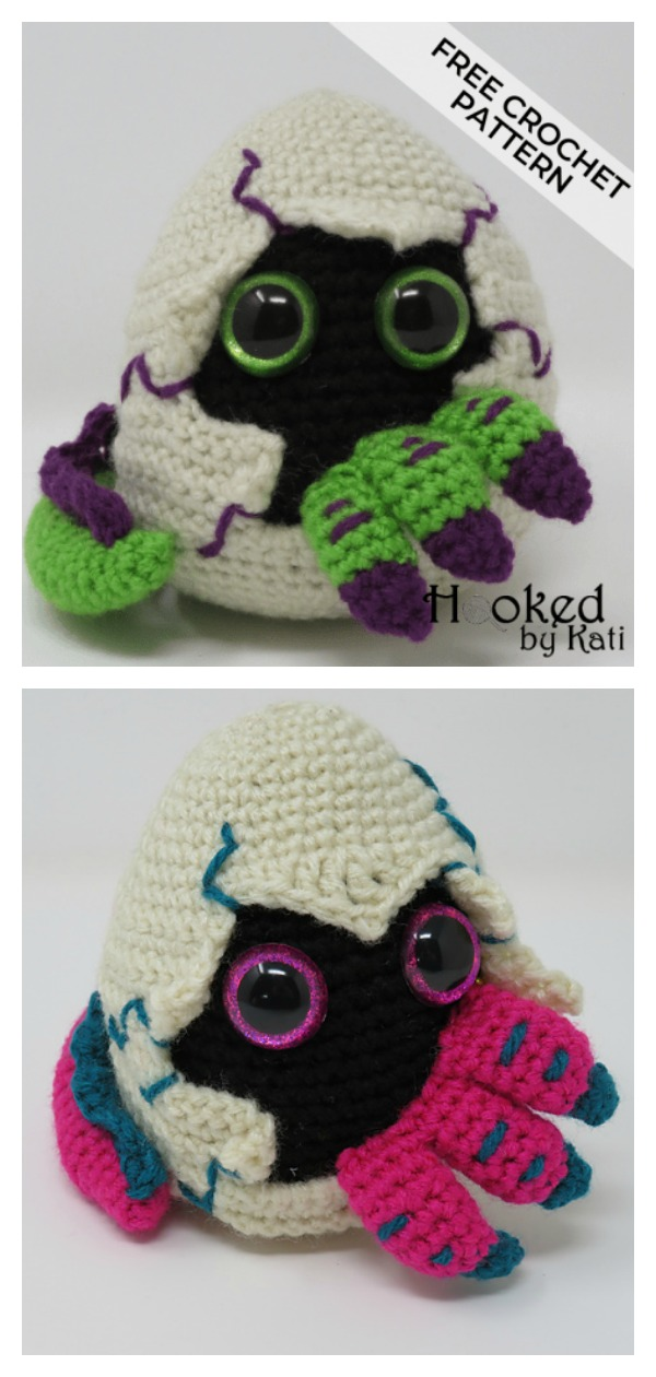 Amigurumi Hatching Dragon Egg Free Crochet Pattern