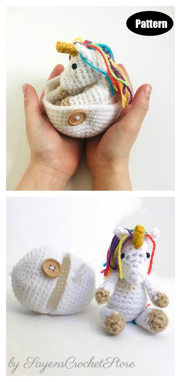 Amigurumi Unicorn Hatching Egg Crochet Pattern