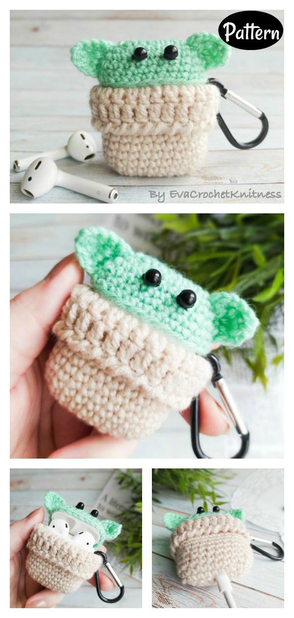 Baby Yoda Airpods Case Keychain Crochet Pattern Cool Creativities