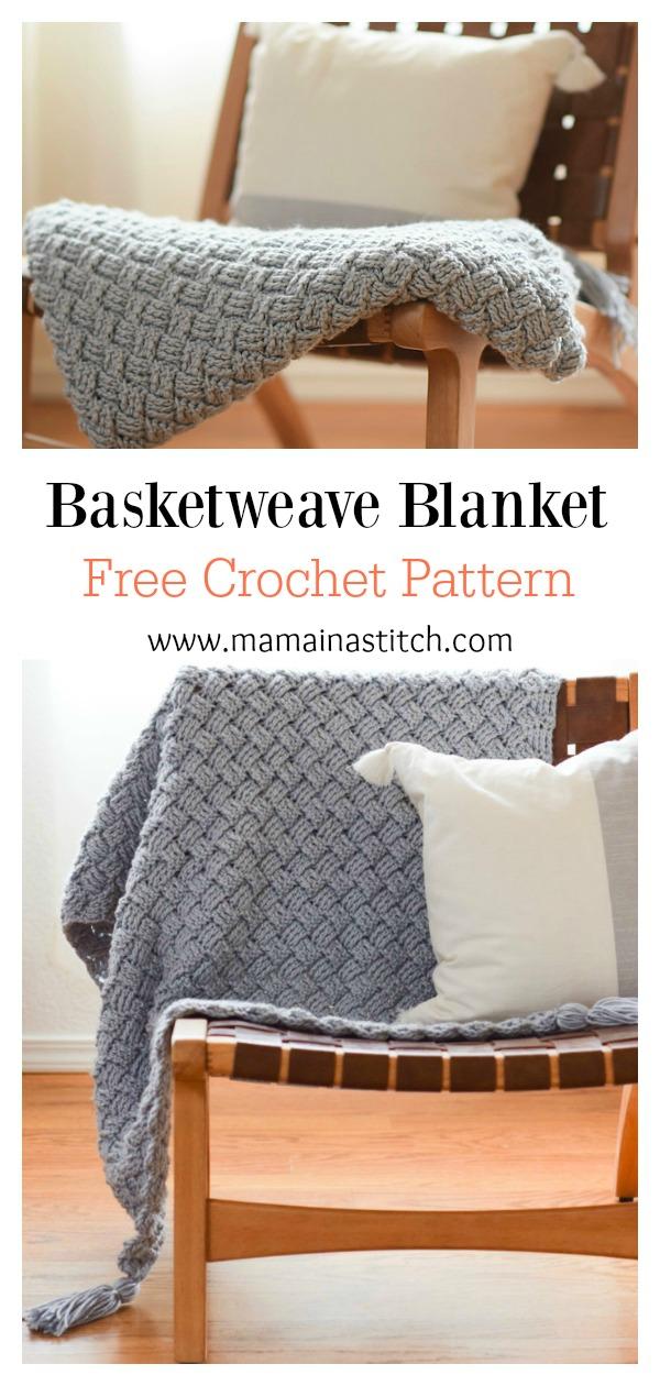 Basketweave Blanket Free Crochet Pattern