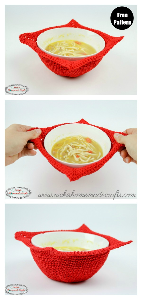 Bowl Cozy Free Crochet Pattern