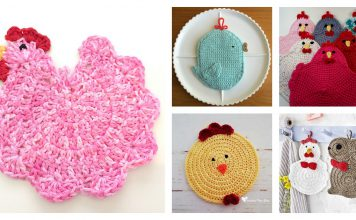 Chicken Potholder Free Crochet Pattern and Paid