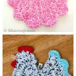 Chicken Potholder Free Crochet Pattern and Video Tutorial