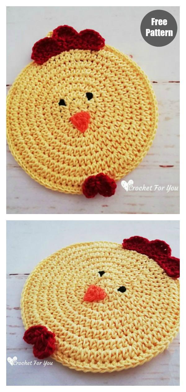 Chicken Potholder Free Crochet Pattern
