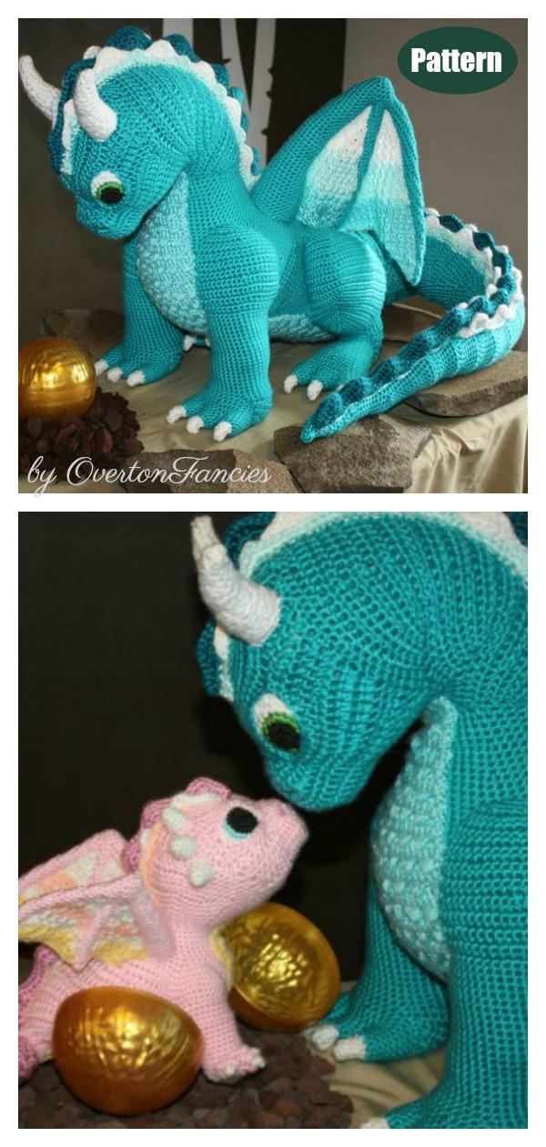Echo the Air Dragon Crochet Pattern