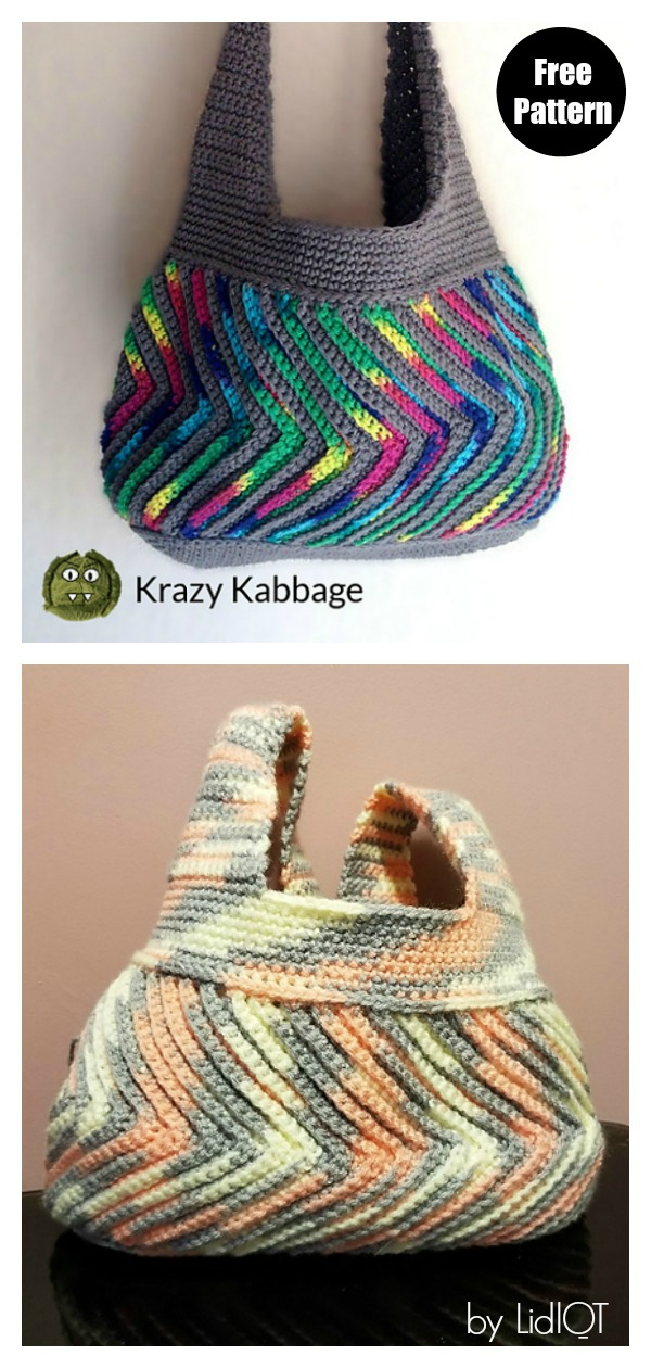 Fast-forward Chevron Bag Free Crochet Pattern
