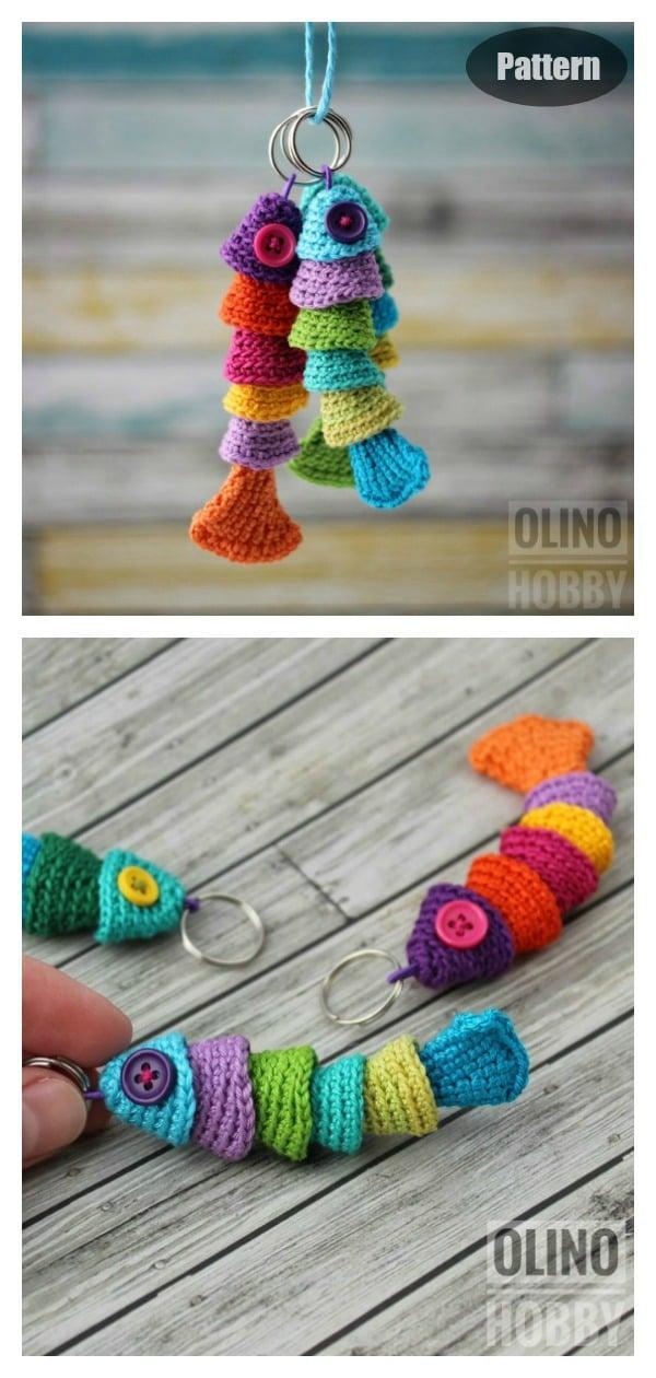 Fish keychain Crochet Pattern