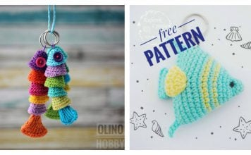 Fish keychain Free Crochet Pattern and Paid