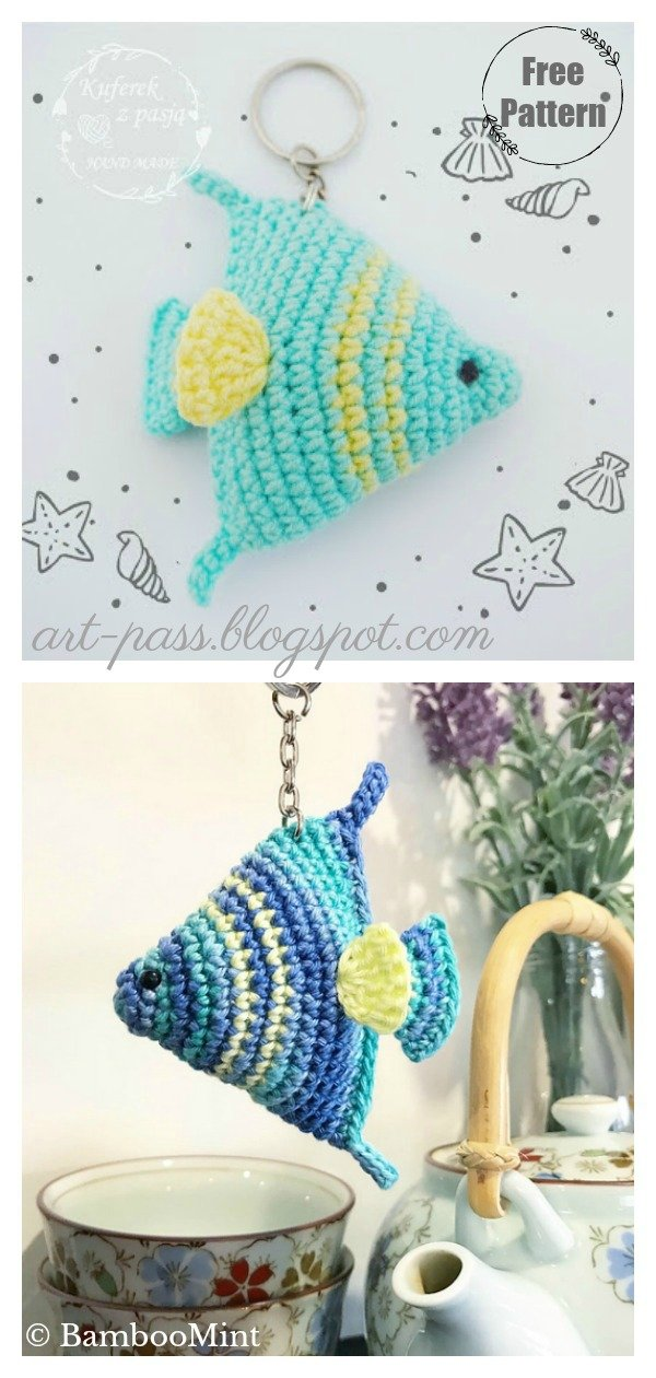 Fish keychain Free Crochet Pattern