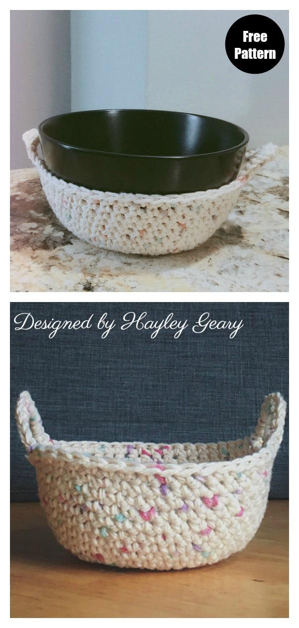 Grandma's Bowl Cozy Free Crochet Pattern