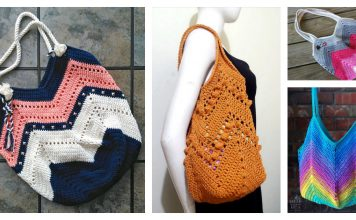 Granny Square Bottom Bag Free Crochet Pattern