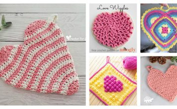 Heart Potholder Free Crochet Pattern