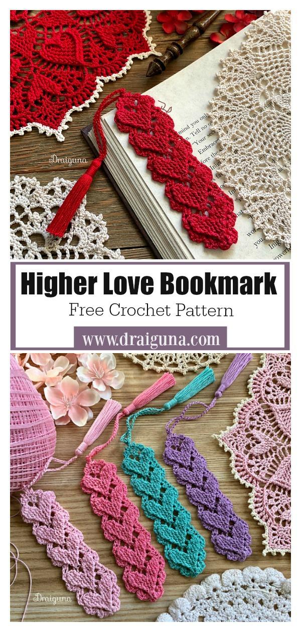 Higher Love Bookmark Free Crochet Pattern