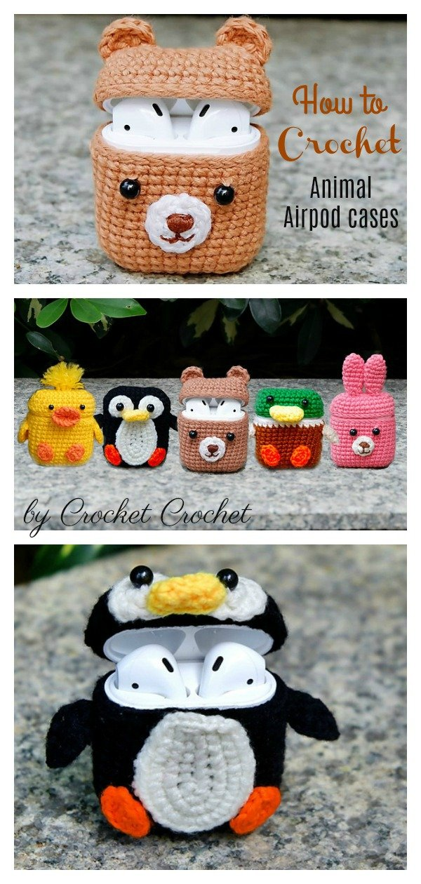 How to Crochet 5 Animal Style Airpods Cases
