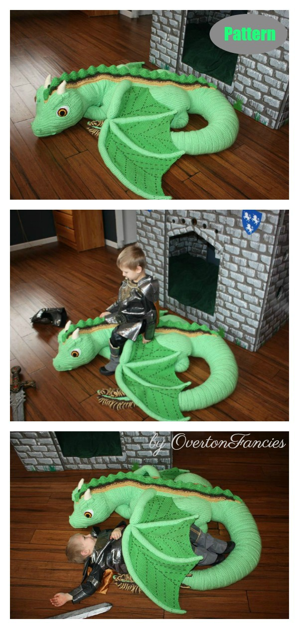 Kiefer the Forest Dragon Crochet Pattern