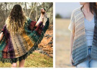 Lace Kimono Cardigan Free Crochet Pattern