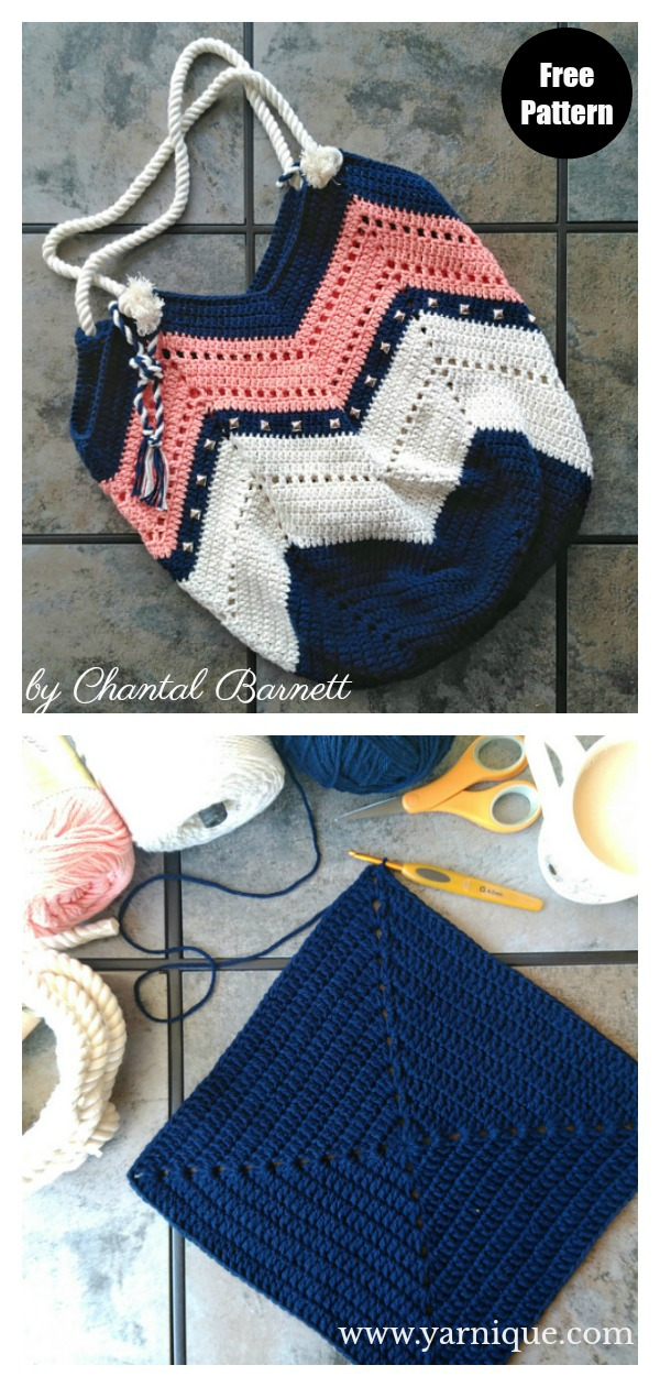 Not Your Granny's Beach Bag Free Crochet Pattern