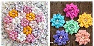 Puff Flower Free Crochet Pattern