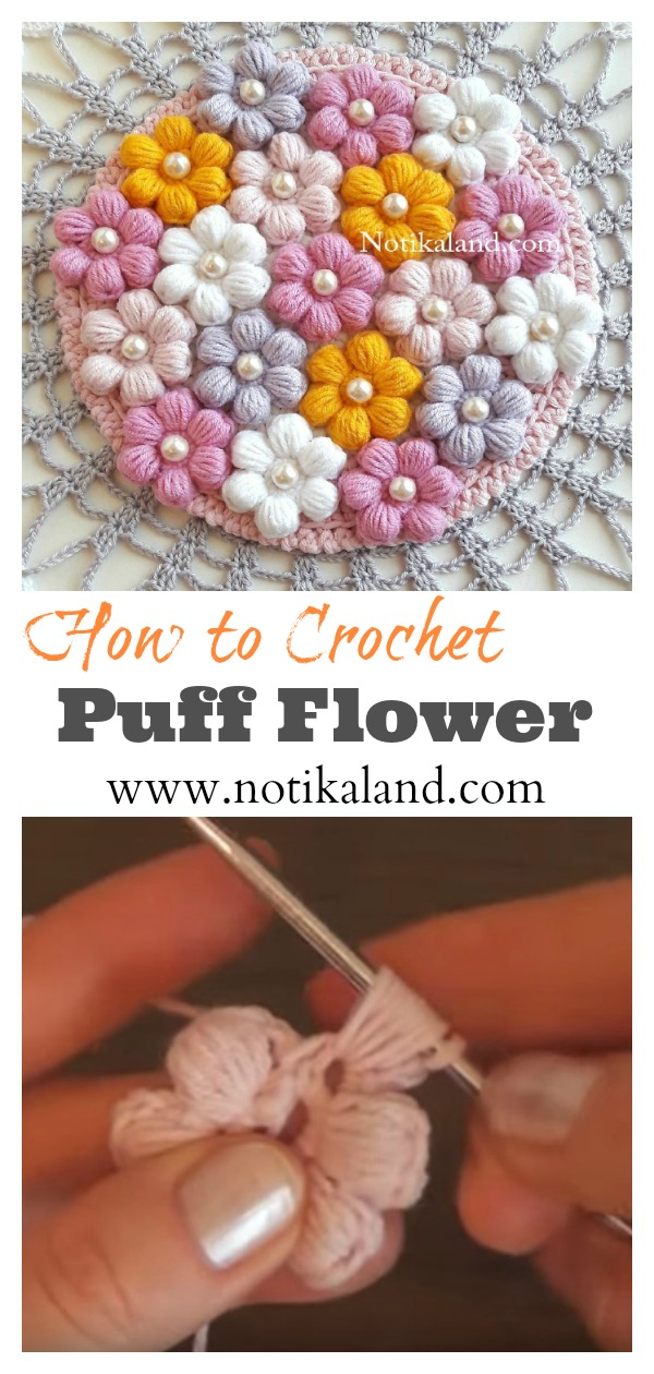 Puff Flower Free Crochet Pattern
