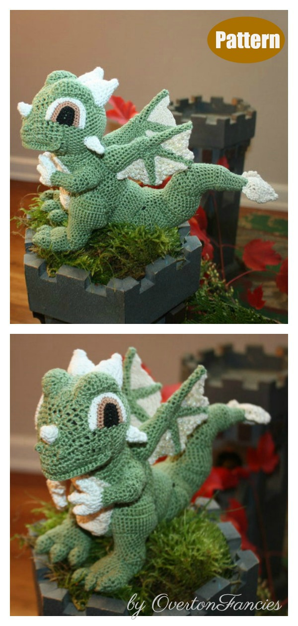 Sage the Green Dragon Crochet Pattern