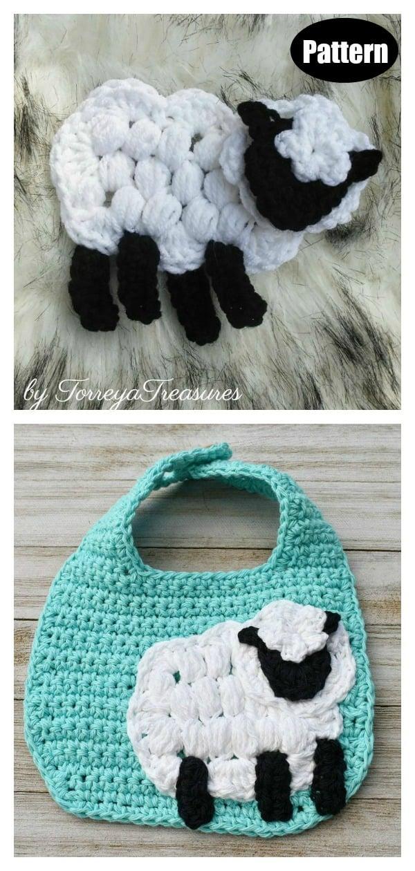 Sheep Applique Crochet Pattern
