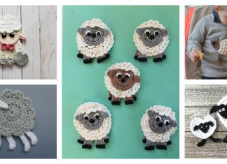 Sheep Applique Free Crochet Pattern and Paid