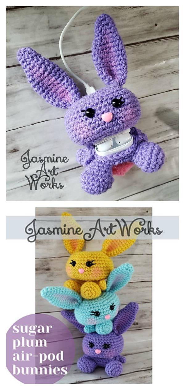 Sugar Plum Airpod Bunny Case Crochet Pattern