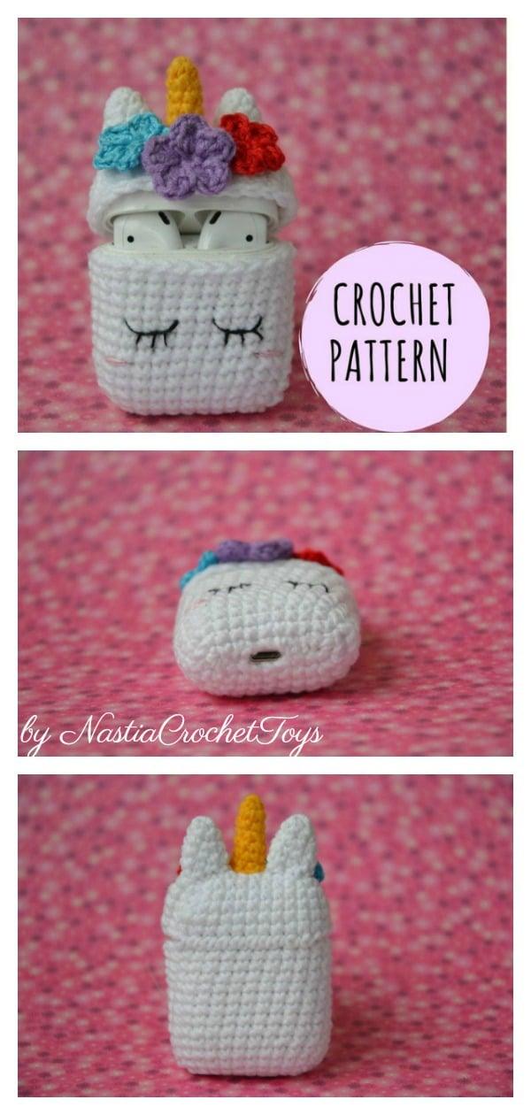Unicorn Airpods Case Crochet Pattern