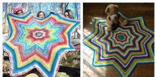8 Point Star Blanket Free Crochet Pattern