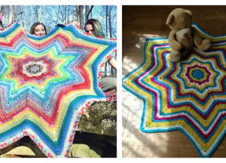 8 Point Star Blanket Free Crochet Pattern
