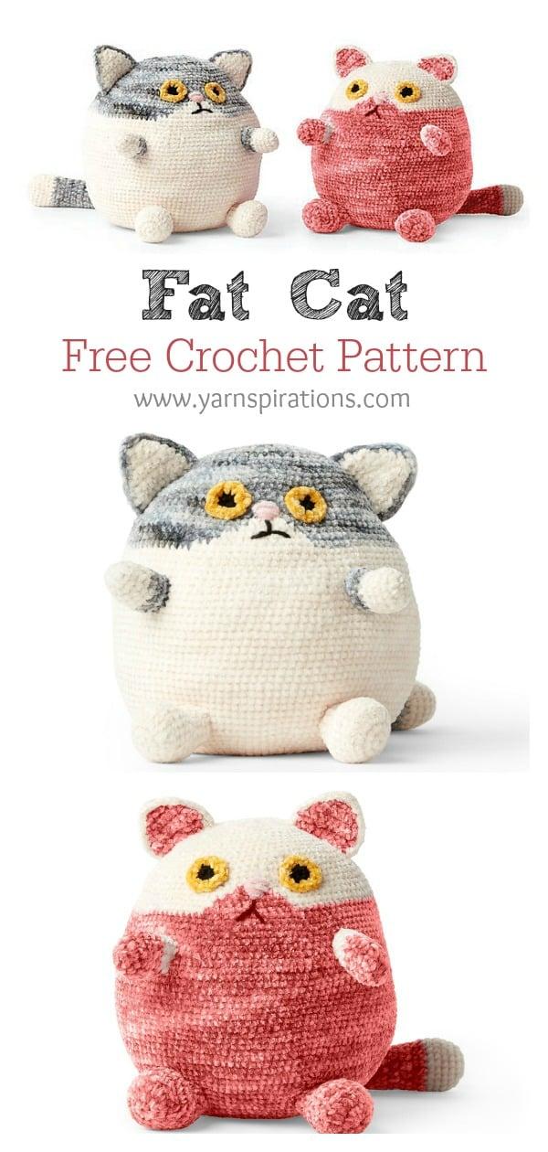 Adorable Fat Cat Free Crochet Pattern