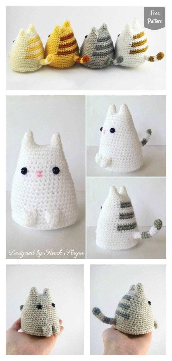 Amigurumi Dumpling Kitty Free Crochet Pattern