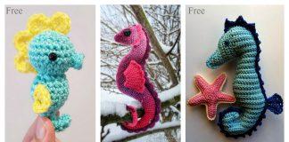 Amigurumi Seahorse Free Crochet Pattern and Paid