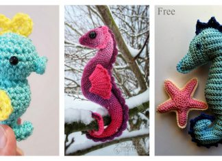 Amigurumi Seahorse Free Crochet Pattern and Paid
