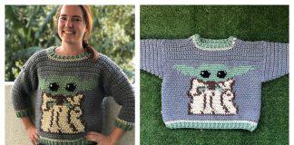 Baby Yoda Sweater Free Crochet Pattern