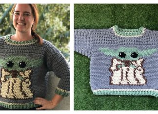 Baby Yoda Sweater Free Crochet Pattern