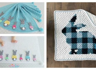 Bunny Blanket Free Crochet Pattern and Paid