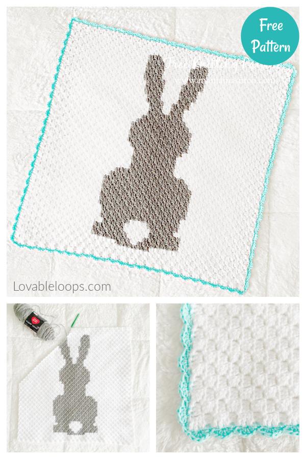 Bunny Blanket Free Crochet pattern