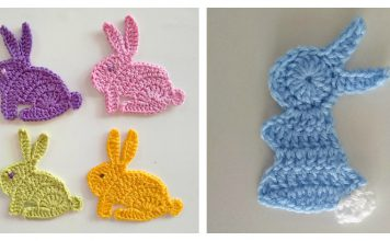 Bunny Rabbit Applique Free Crochet Pattern